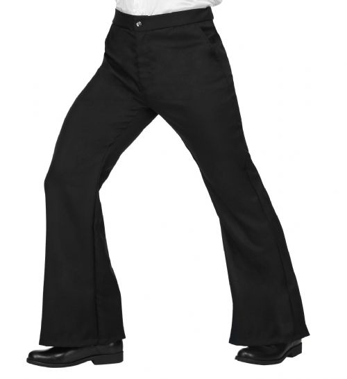 70s Man Pants - Black Trouser Pants 70s Fancy Dress